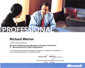 Microsoft certification as a Dynamics CRM professional