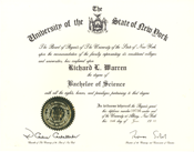 University of the State of New York degree
